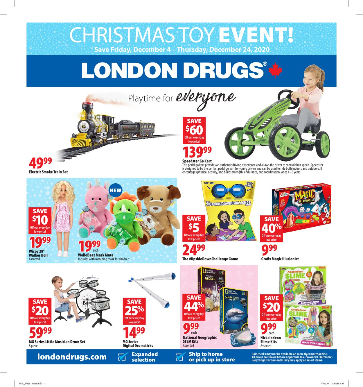 London Drugs - Holiday 2020 Flyer - 12/04-12/24/2020