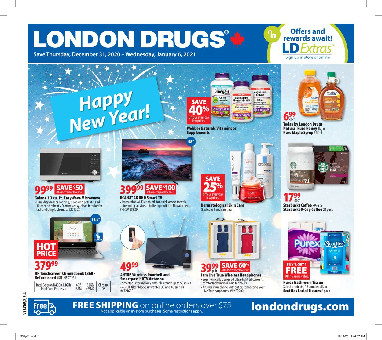London Drugs - New Year 2021 Flyer - 12/31-01/06/2021