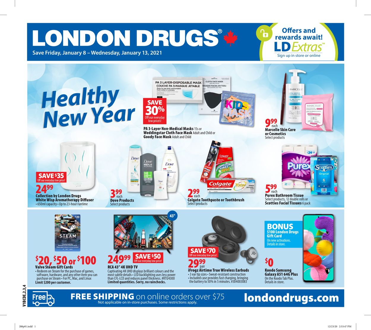 London Drugs Flyer - 01/08-01/13/2021