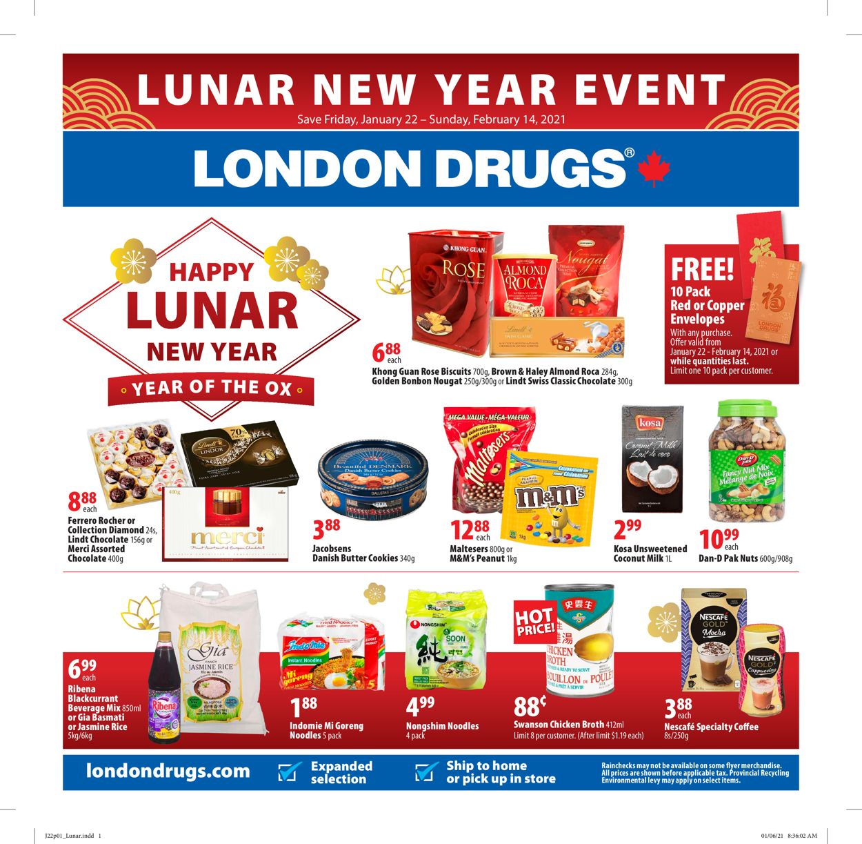 London Drugs- Lunar New Year 2021 Flyer - 01/22-02/14/2021