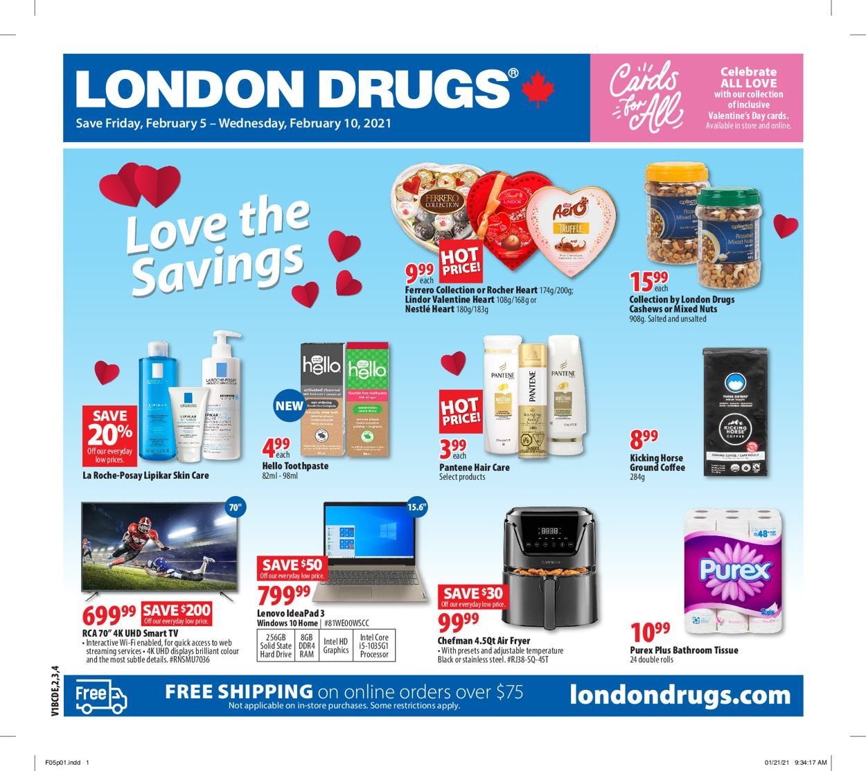 London Drugs - Valentine's Day Flyer - 02/05-02/10/2021