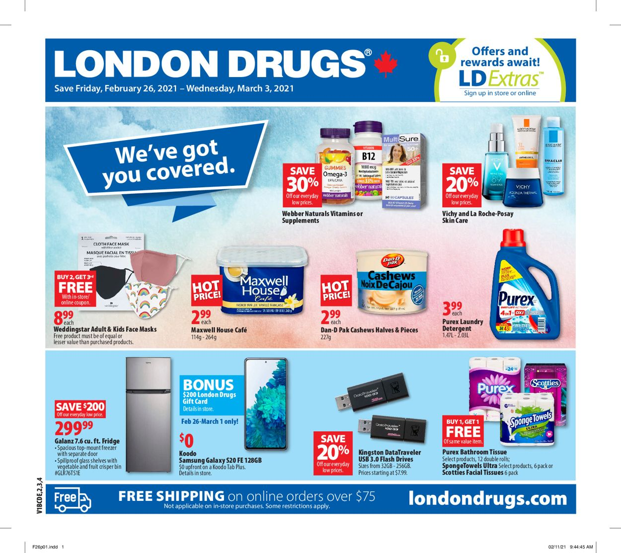 London Drugs Flyer - 02/26-03/03/2021