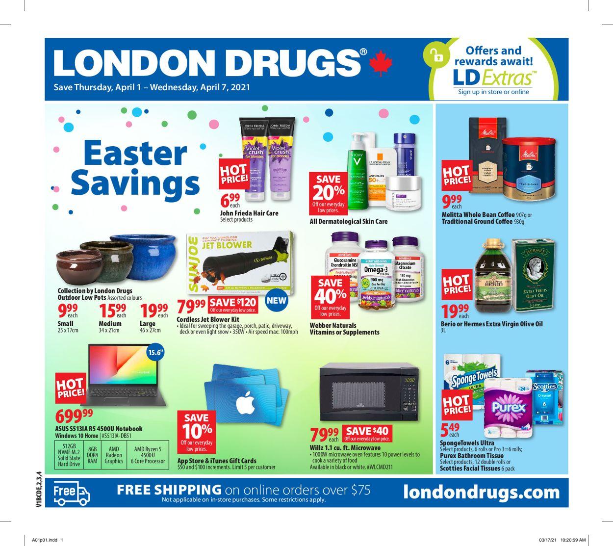 London Drugs Flyer - 04/01-04/07/2021