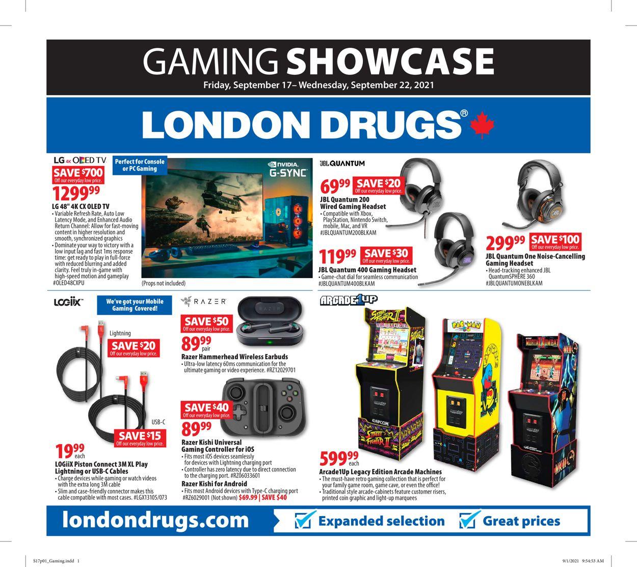 London Drugs Flyer - 09/17-09/22/2021