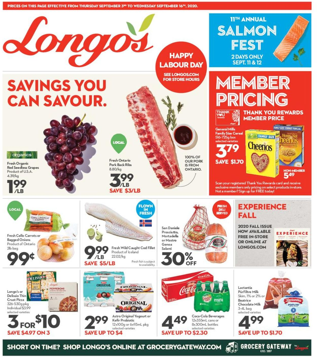 Longo's Flyer - 09/03-09/16/2020