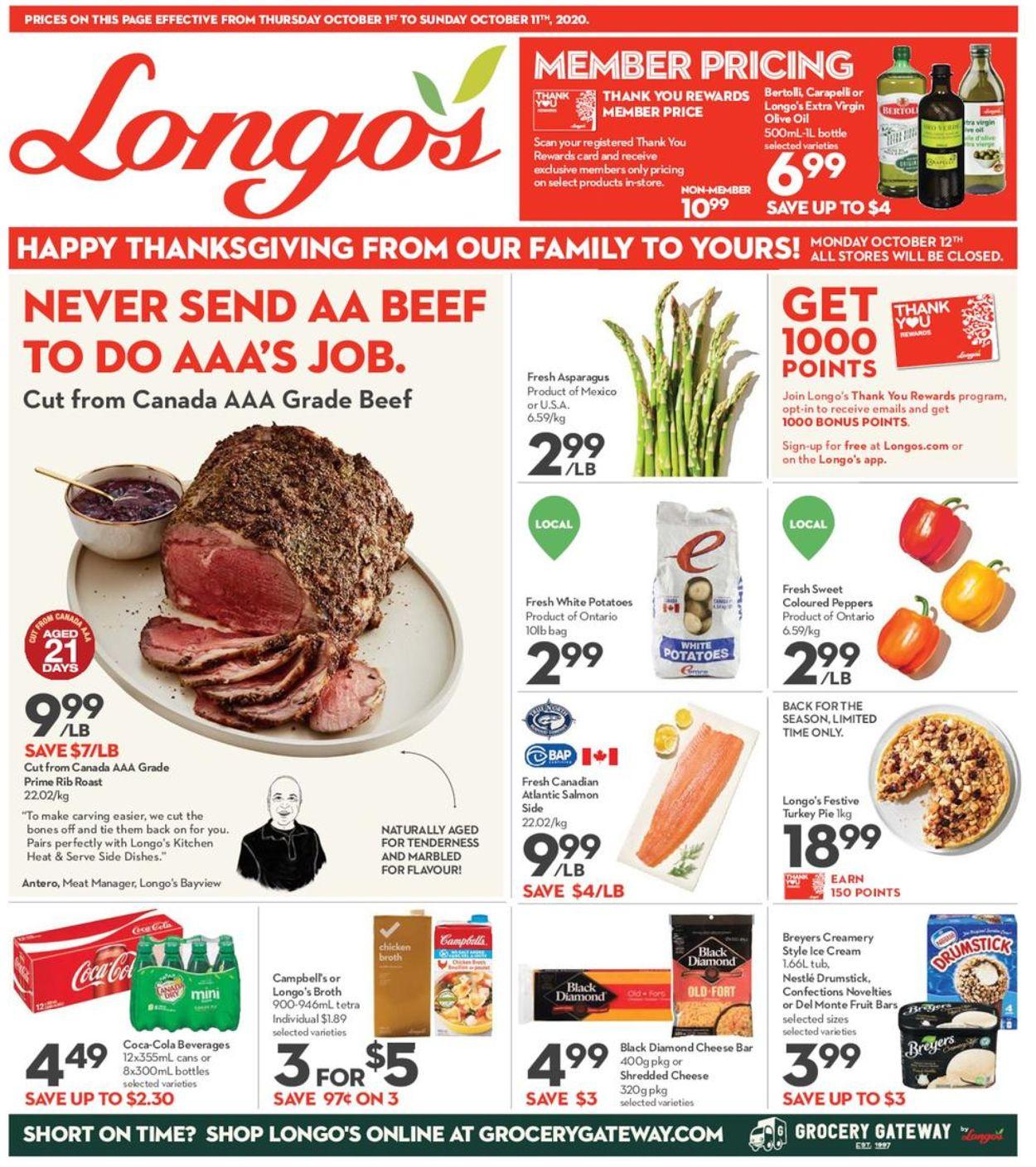 Longo's Flyer - 10/01-10/11/2020
