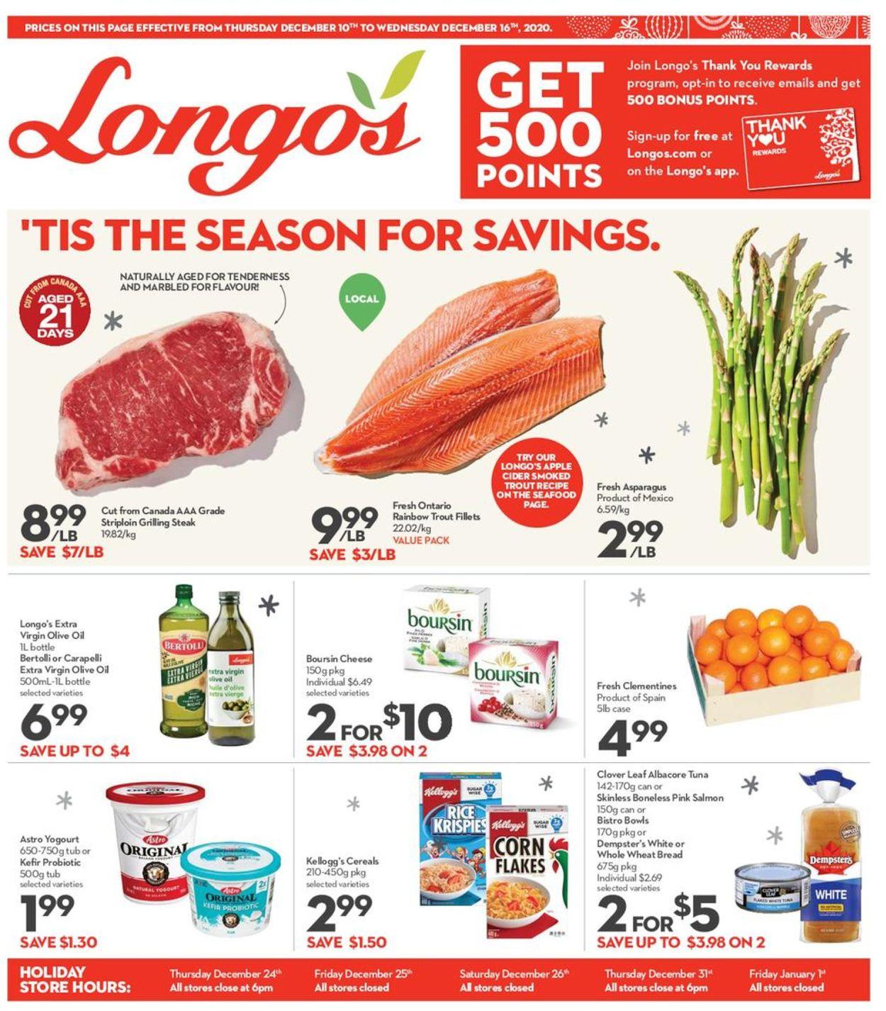 Longo's - Holiday 2020 Flyer - 12/10-12/16/2020