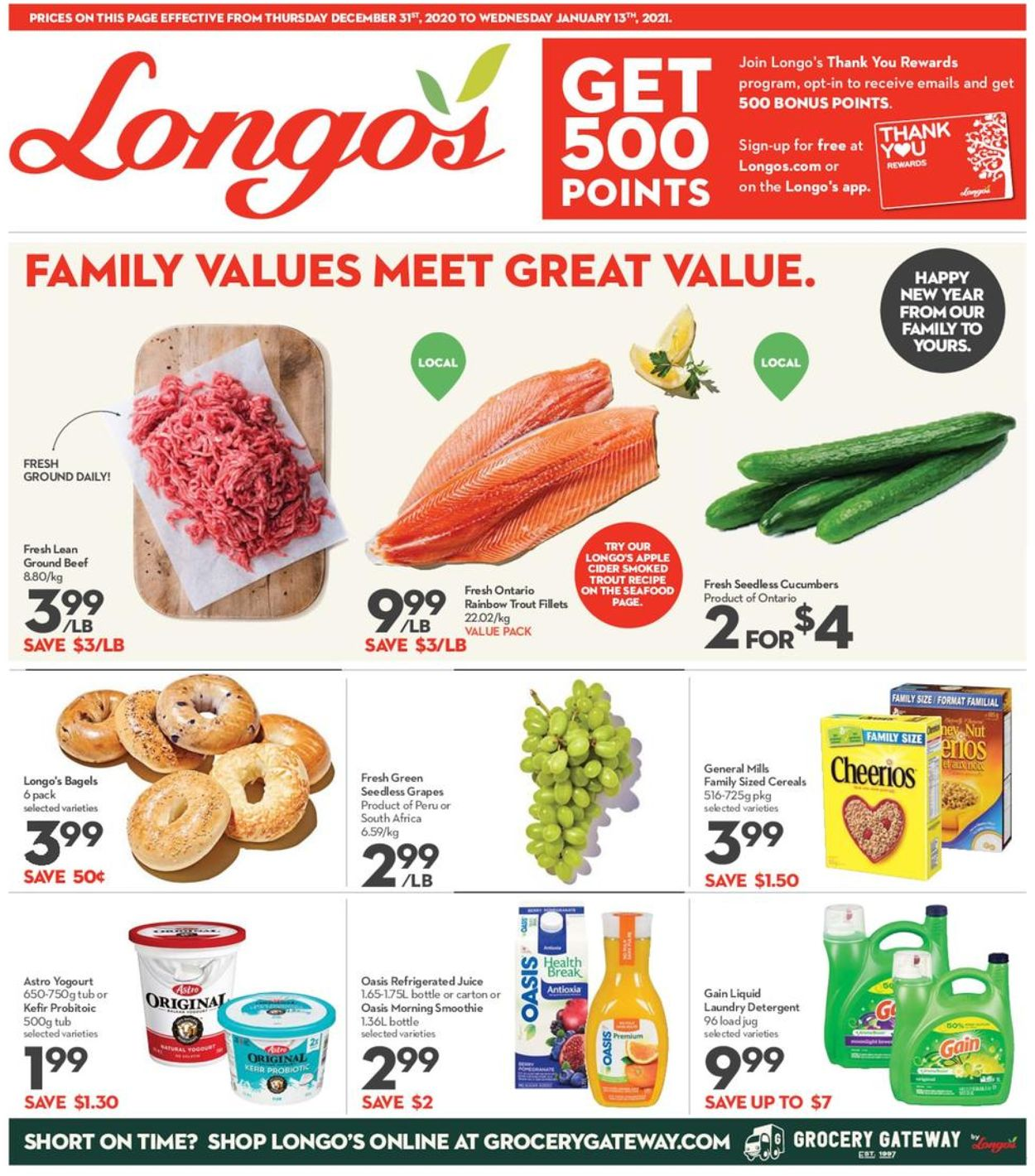 Longo's - New Year 2021 Flyer - 12/31-01/15/2021