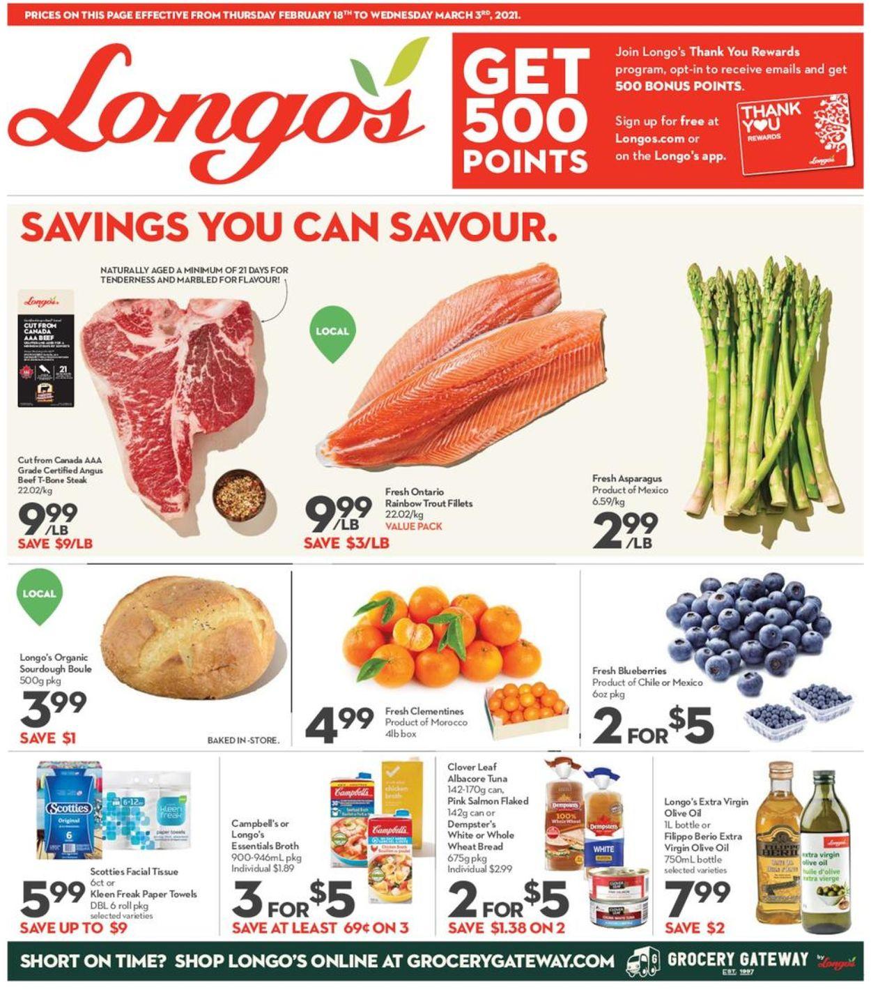 Longo's Flyer - 02/18-03/03/2021
