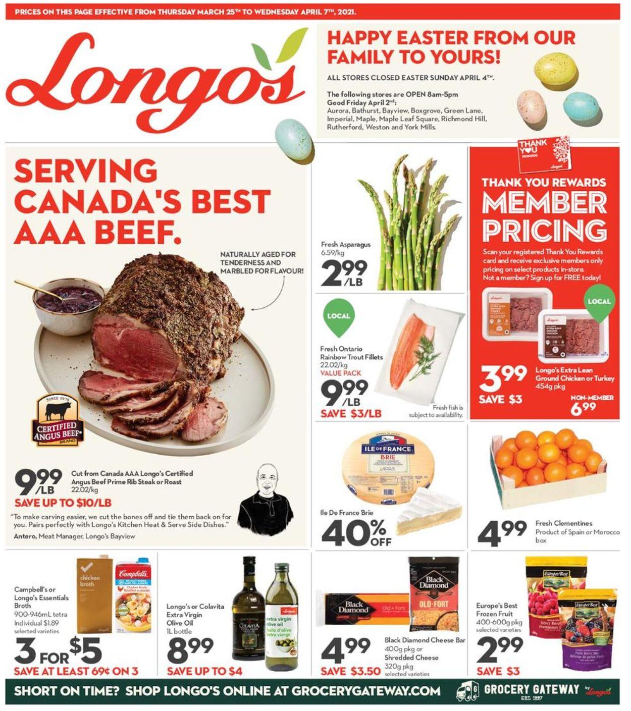 Longo's Flyer - 03/25-04/07/2021