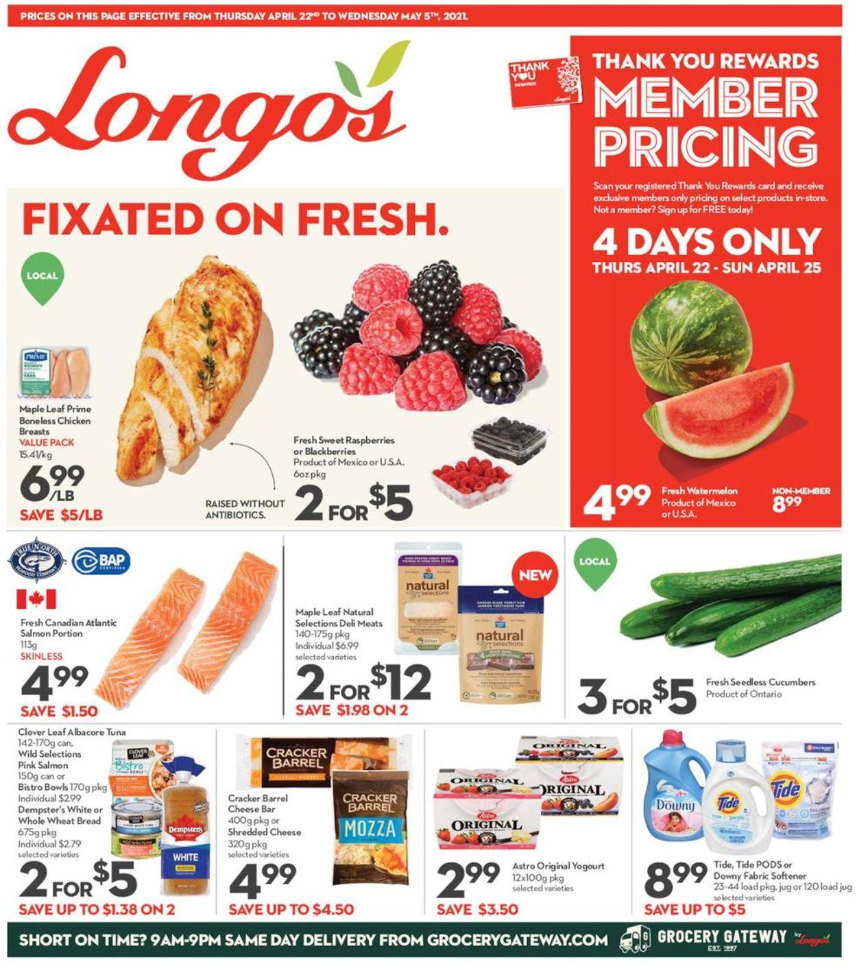 Longo's Flyer - 04/22-05/05/2021