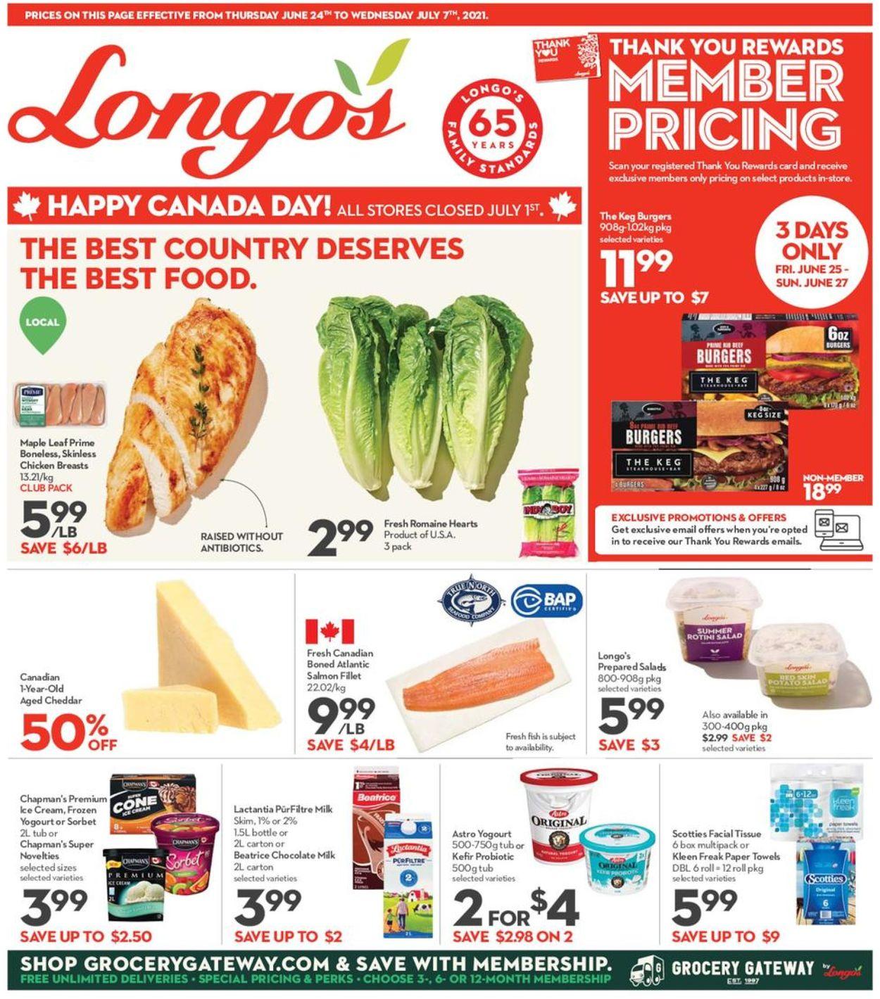Longo's Flyer - 06/24-07/07/2021