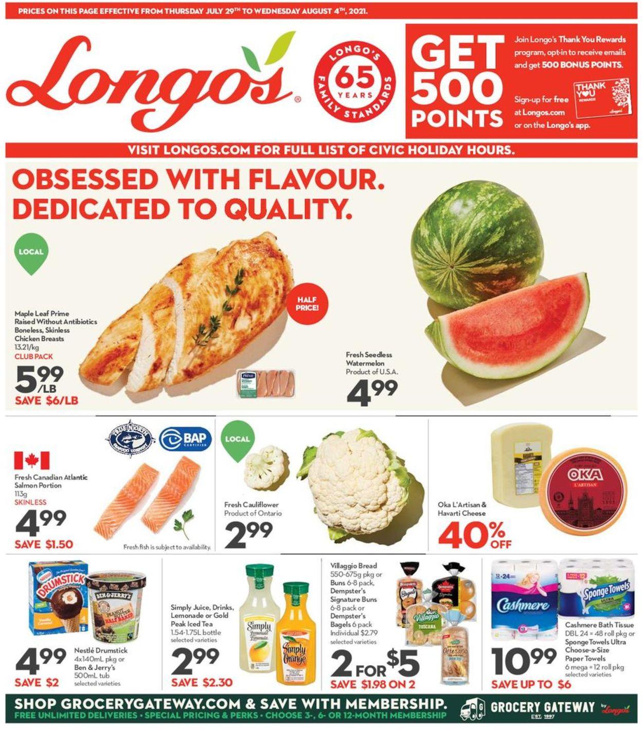 Longo's Flyer - 07/22-08/04/2021