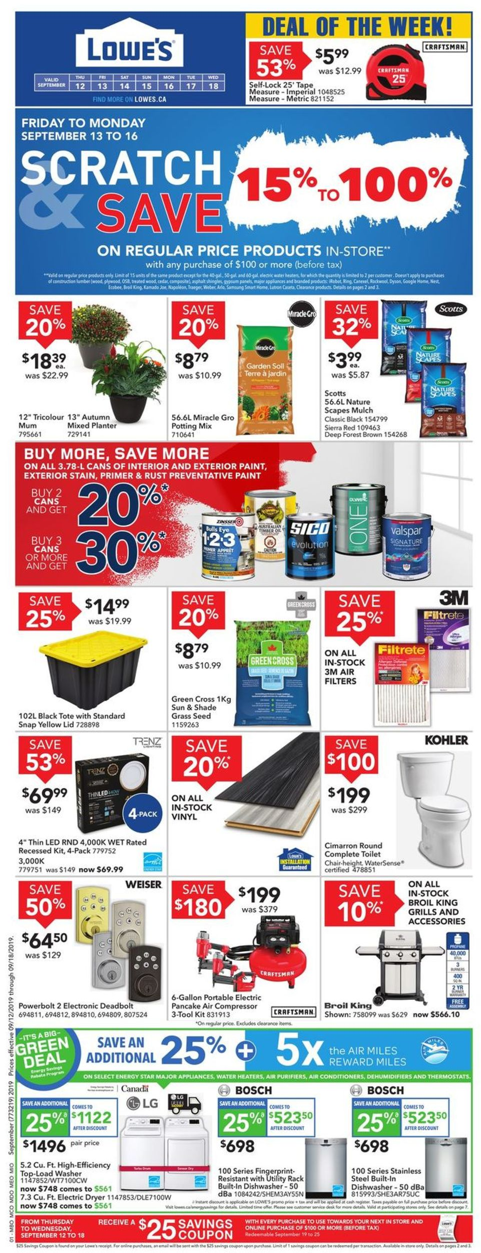 Lowes Flyer - 09/12-09/18/2019