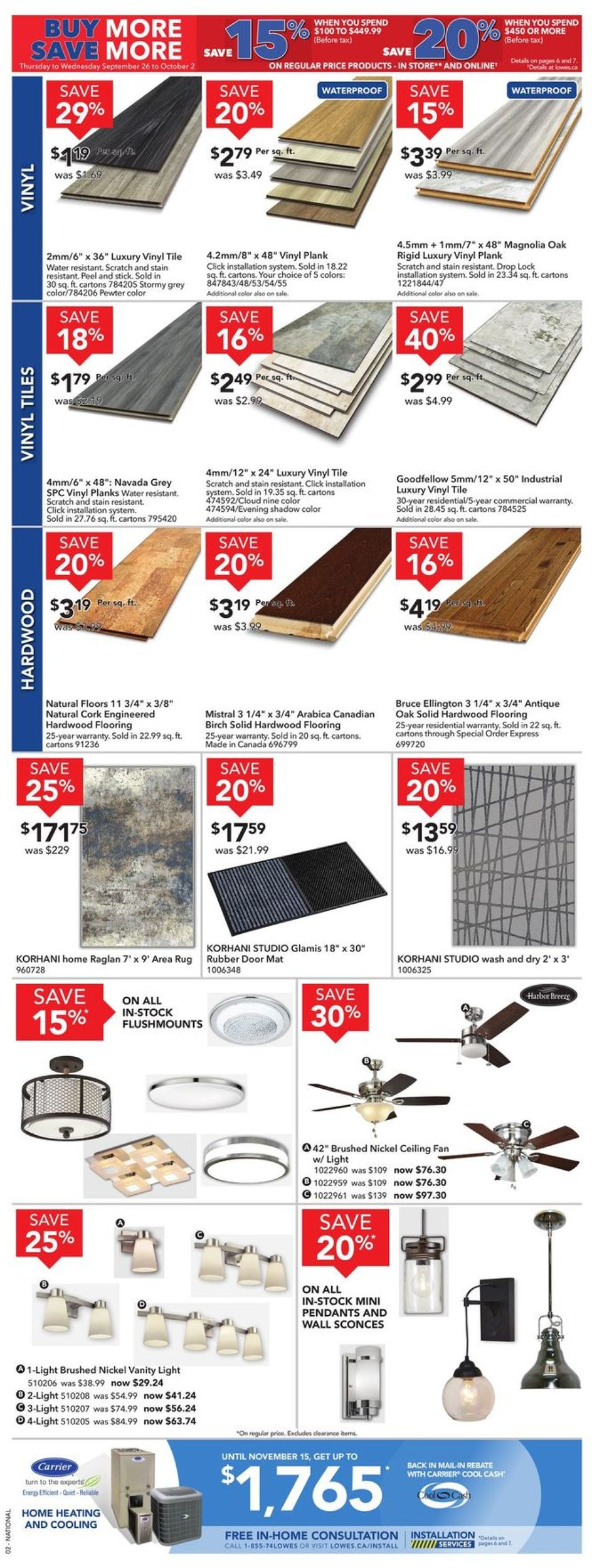 Lowes Flyer - 09/26-10/02/2019 (Page 4)