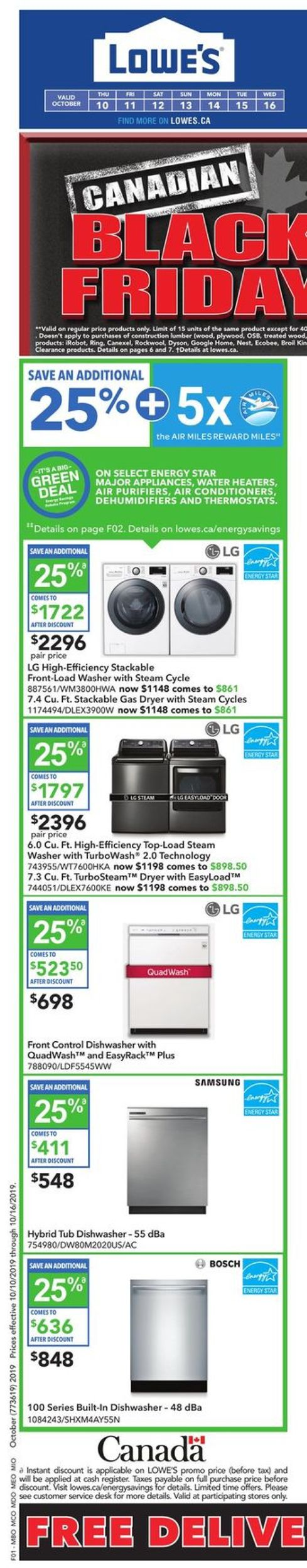 Lowes Flyer - 10/10-10/16/2019