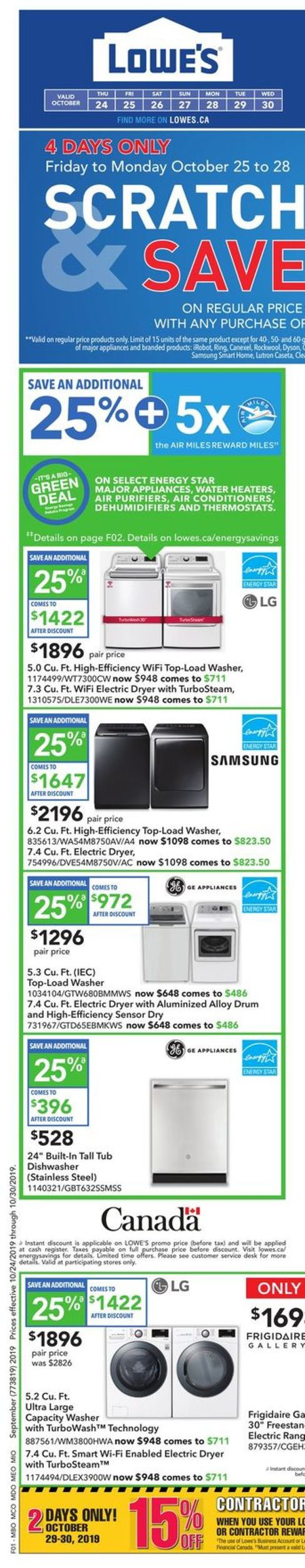 Lowes Flyer - 10/24-10/30/2019