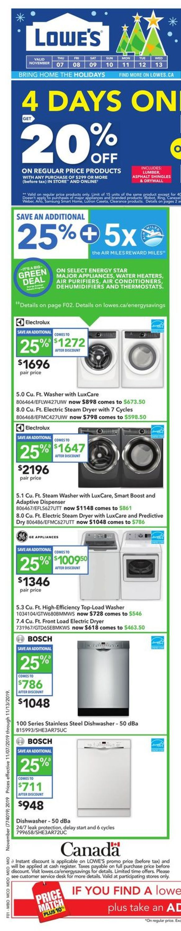 Lowes Flyer - 11/07-11/13/2019