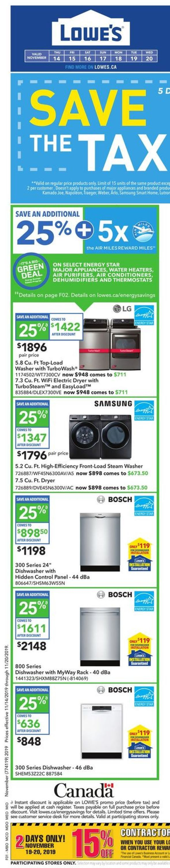 Lowes Flyer - 11/14-11/20/2019