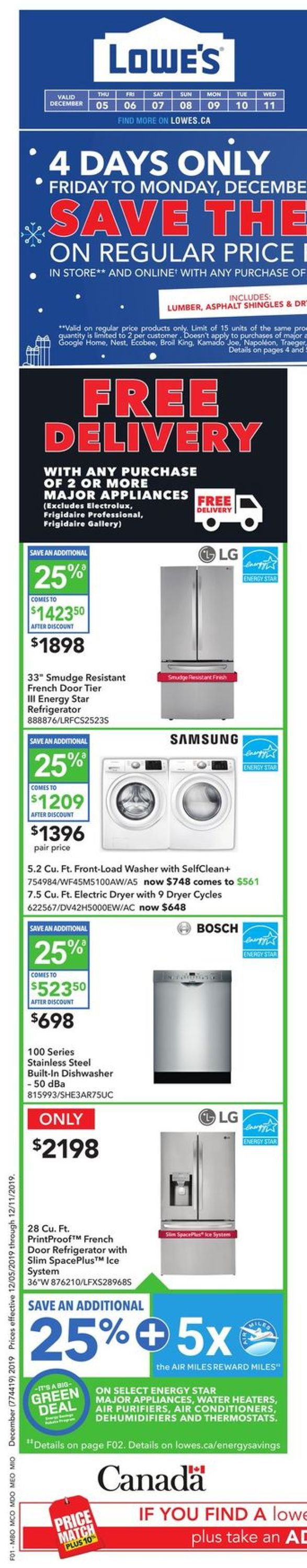 Lowes - HOLIDAY Flyer 2019 Flyer - 12/05-12/11/2019