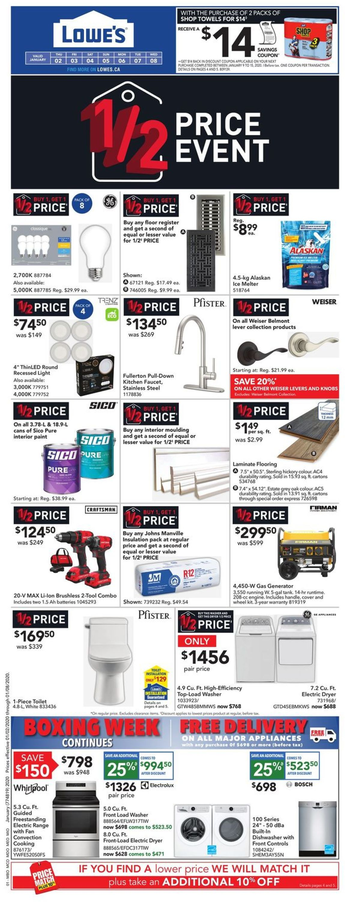 Lowes Flyer - 01/02-01/08/2020