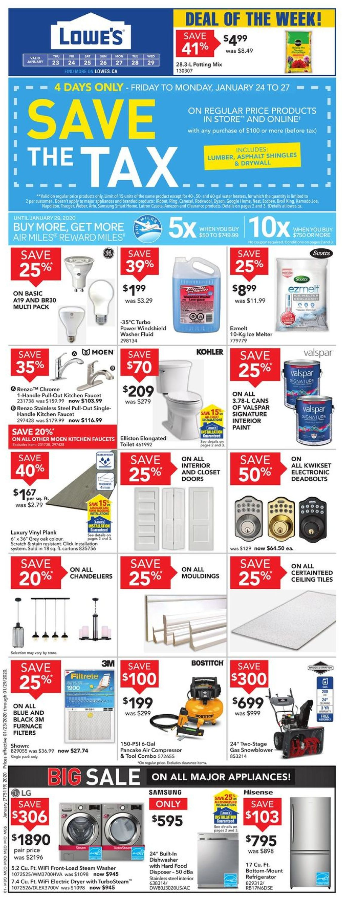 Lowes Flyer - 01/23-01/29/2020