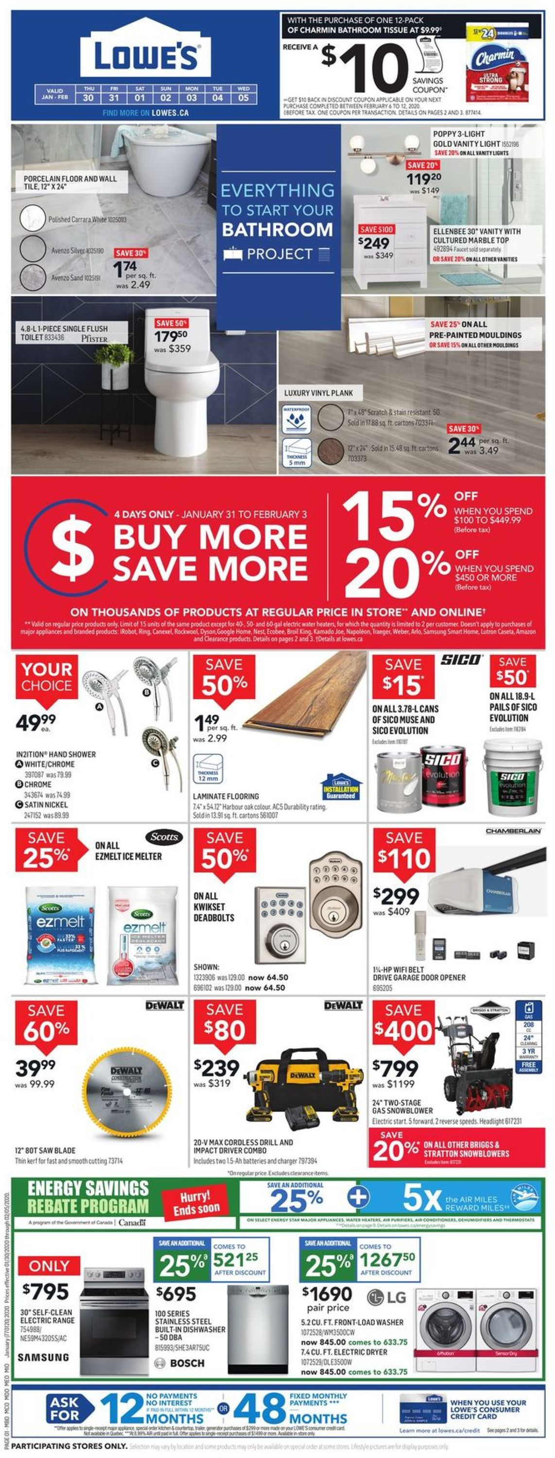 Lowes Flyer - 01/30-02/05/2020