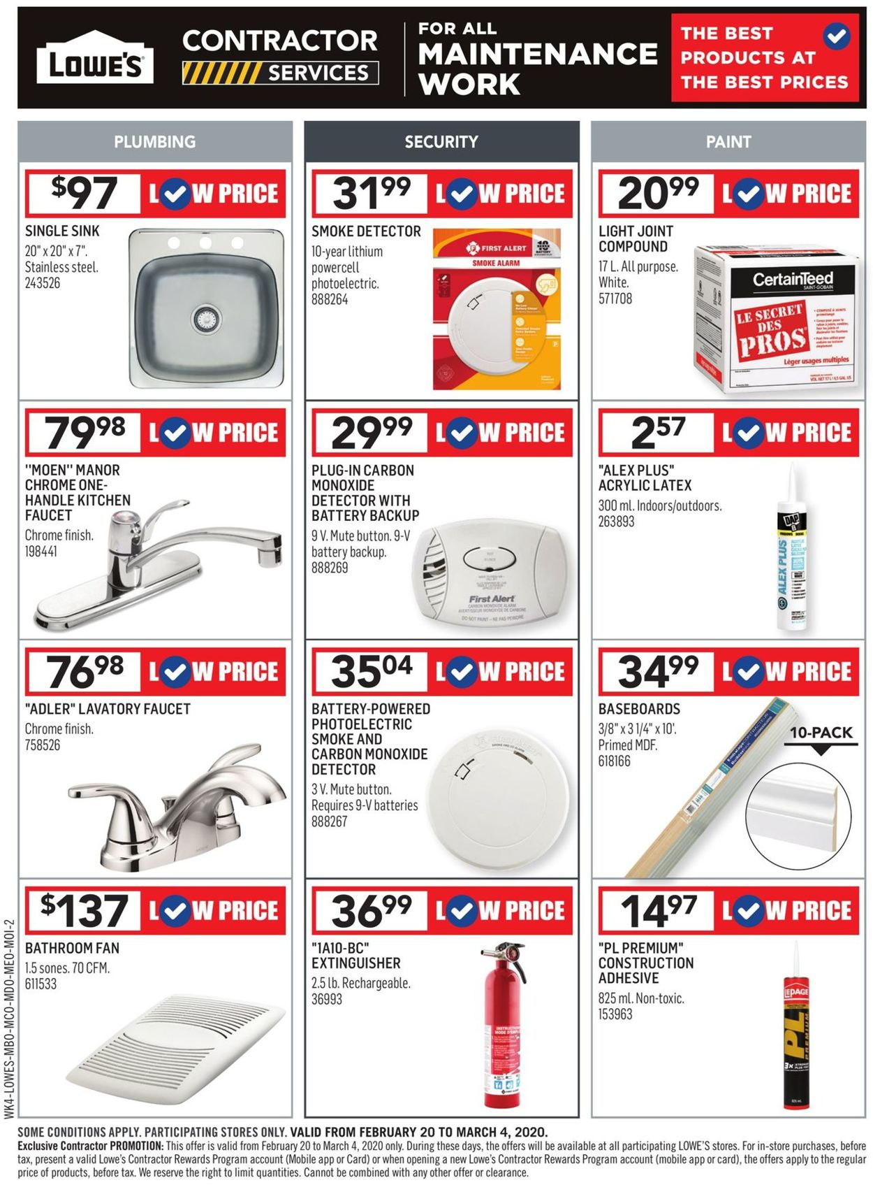 Lowes Flyer - 02/20-03/04/2020