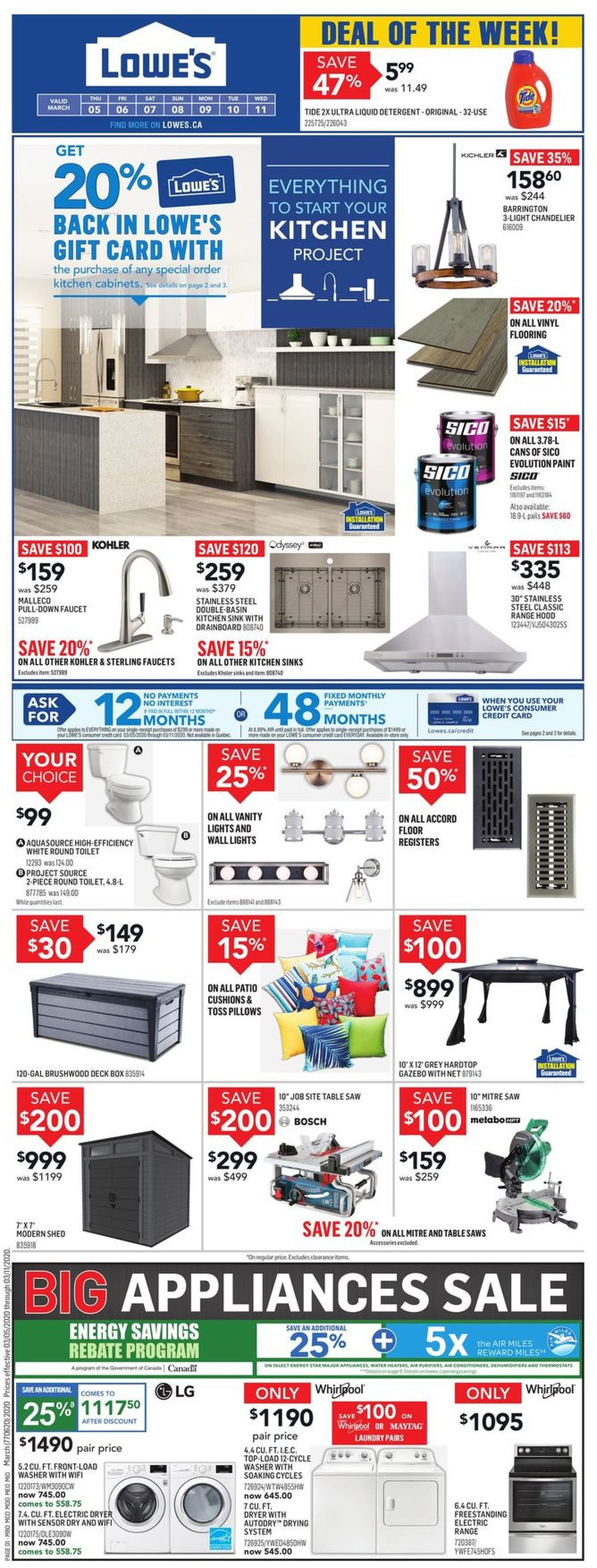 Lowes Flyer - 03/05-03/11/2020