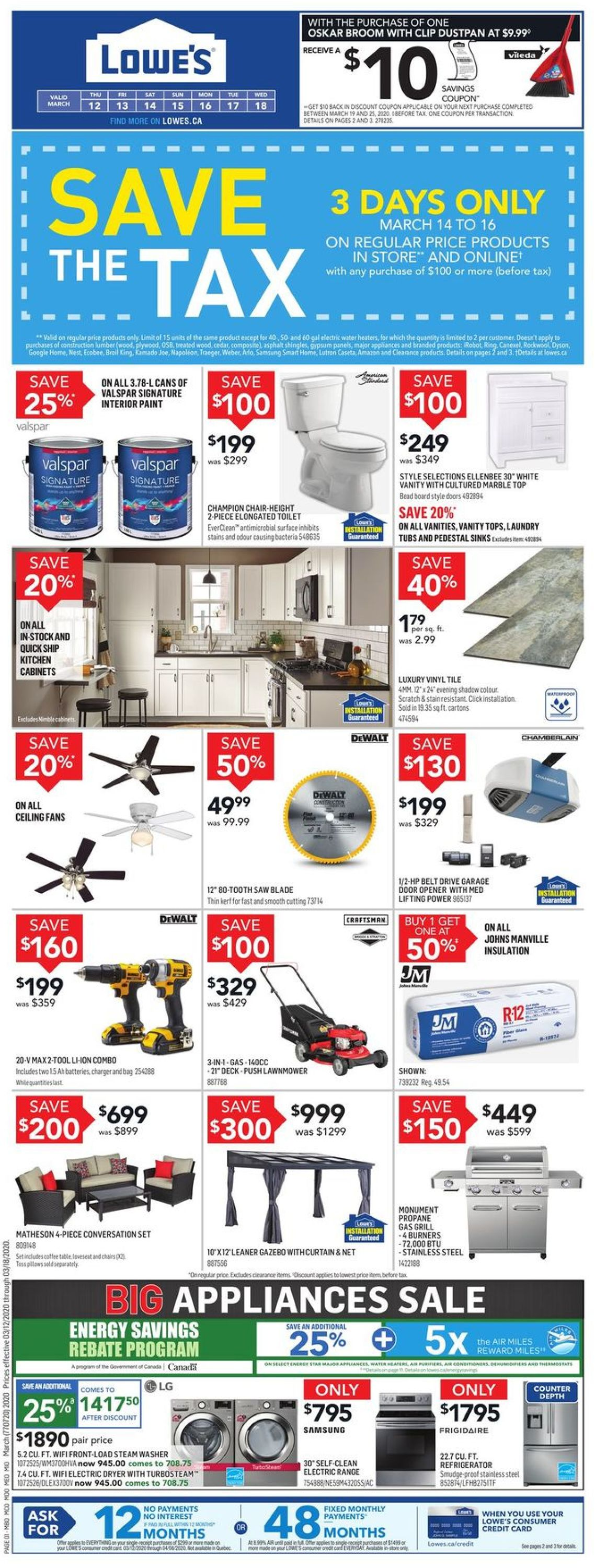 Lowes Flyer - 03/12-03/18/2020