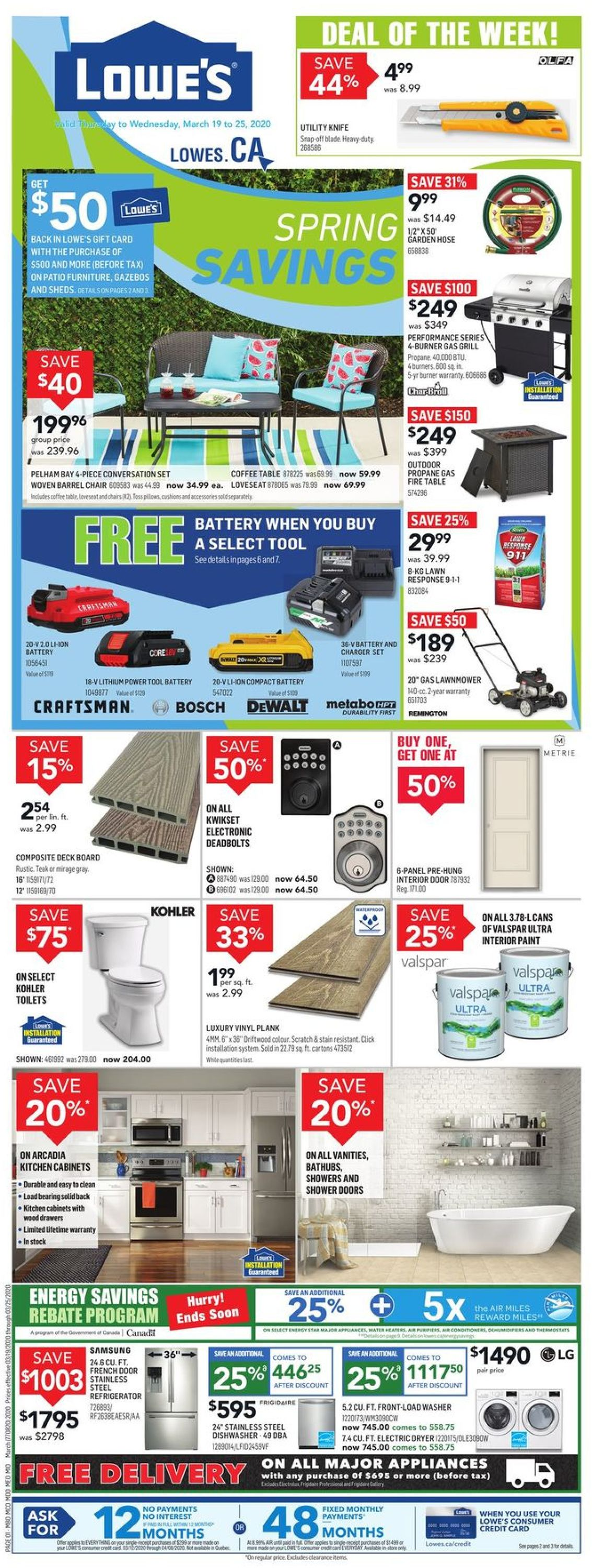 Lowes Flyer - 03/19-03/25/2020