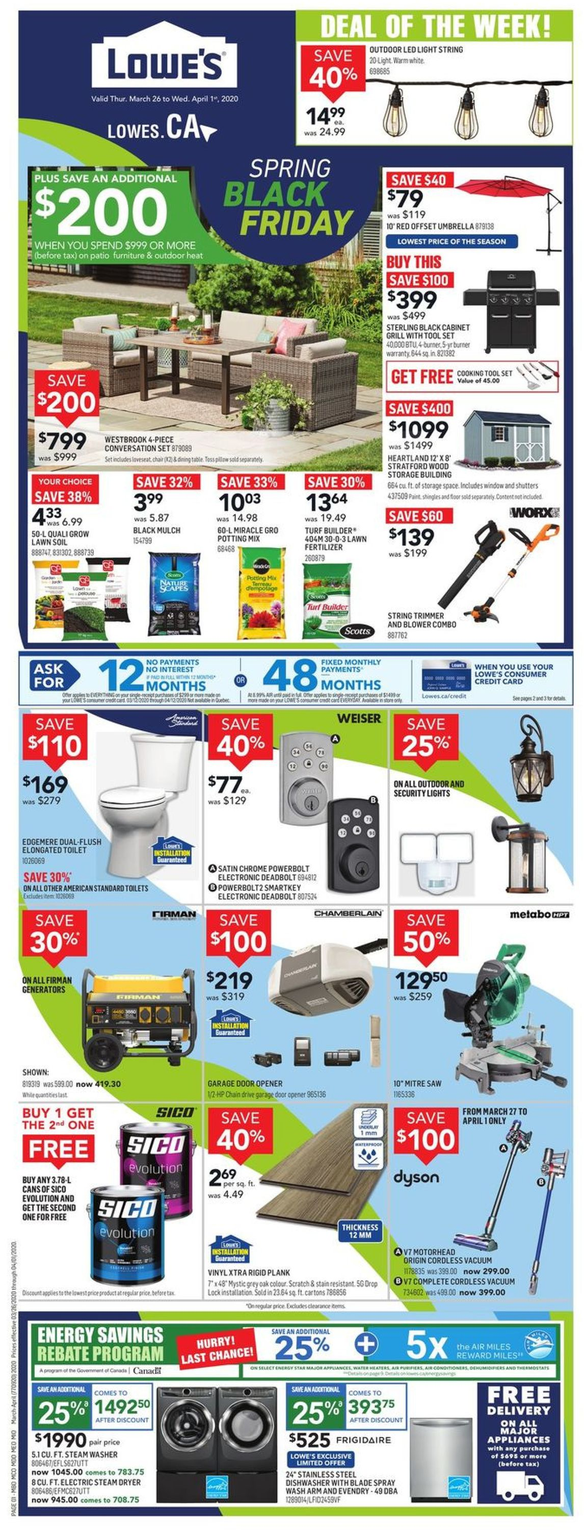 Lowes Flyer - 03/26-04/01/2020