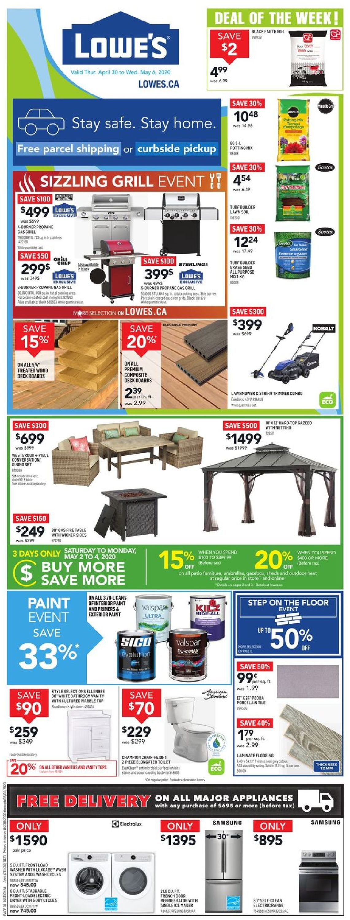 Lowes Flyer - 04/30-05/06/2020