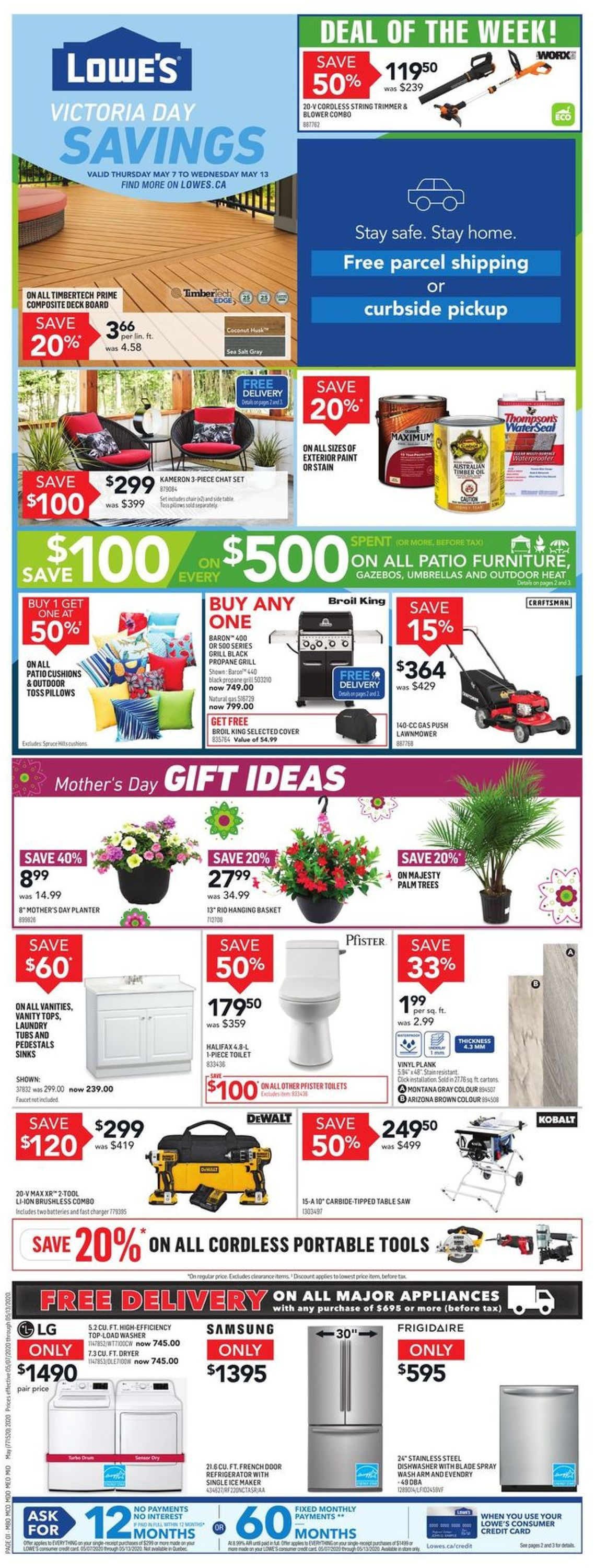 Lowes Flyer - 05/07-05/13/2020