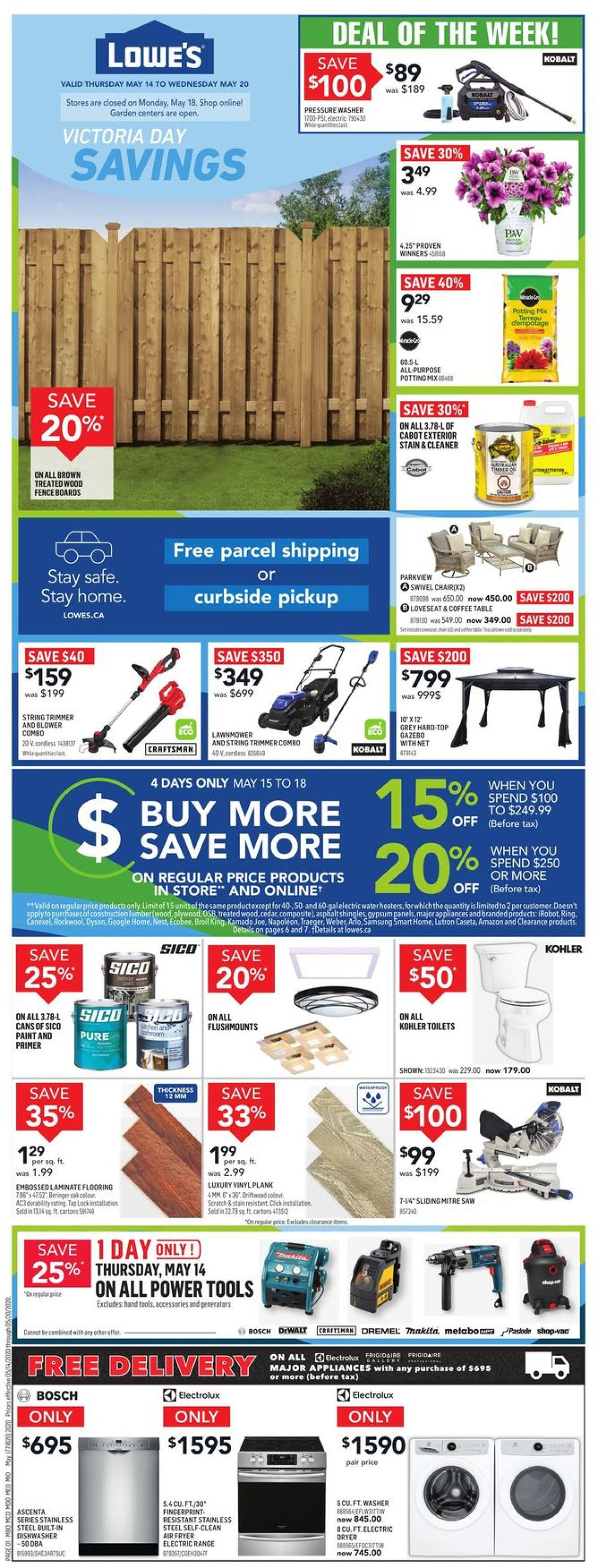 Lowes Flyer - 05/14-05/20/2020