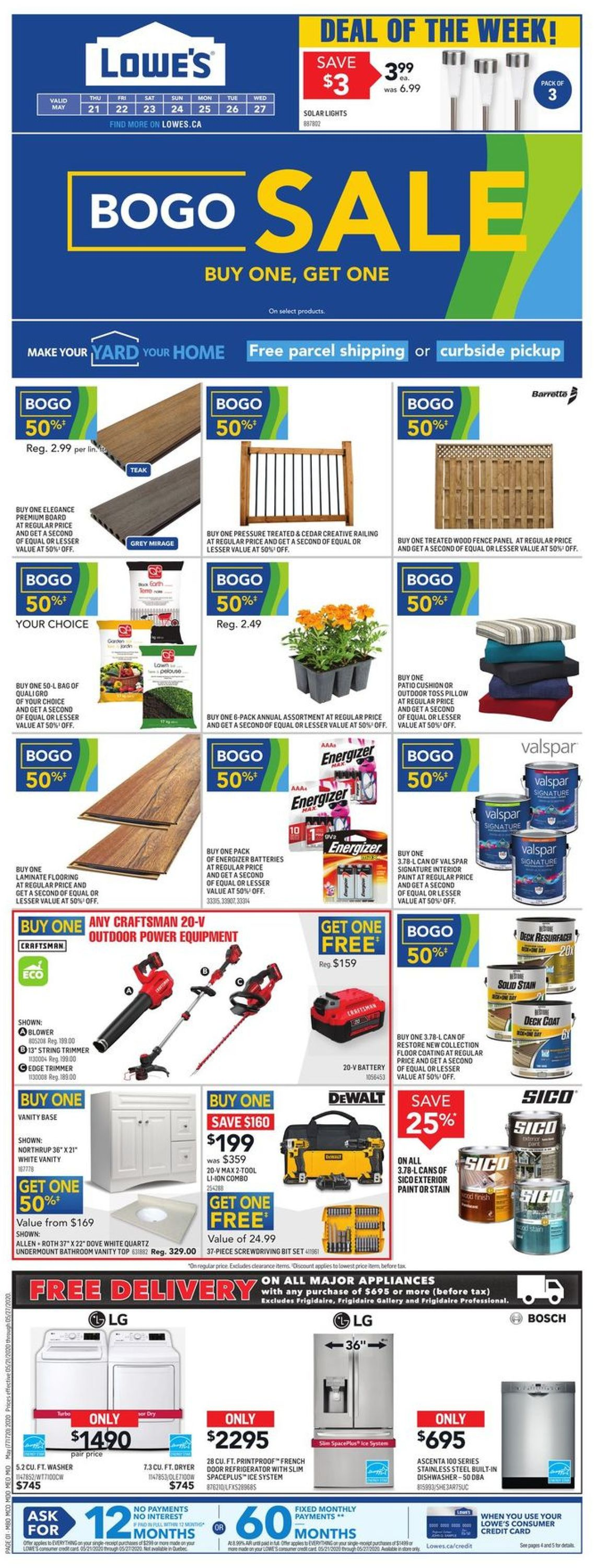 Lowes Flyer - 05/21-05/27/2020