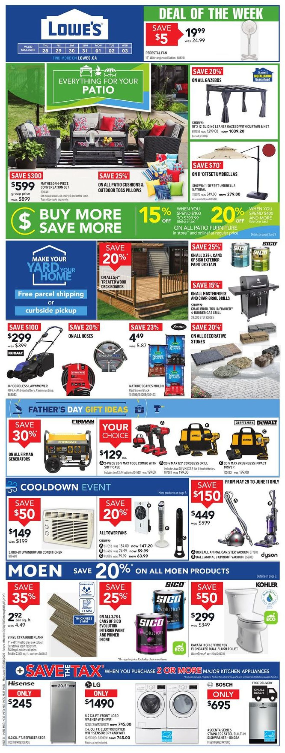 Lowes Flyer - 05/28-06/03/2020