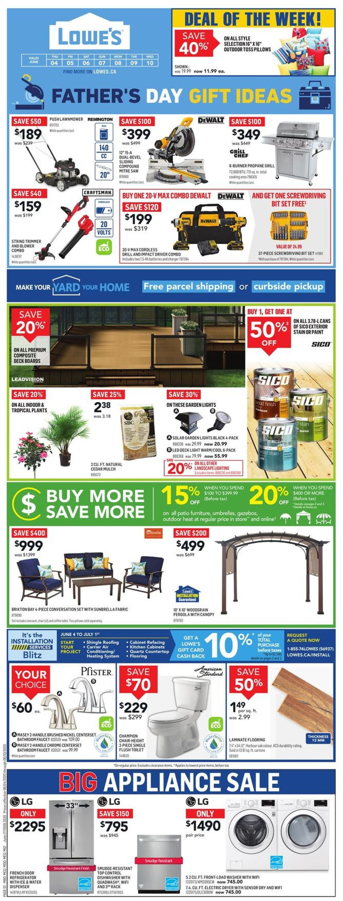 Lowes Flyer - 06/04-06/10/2020