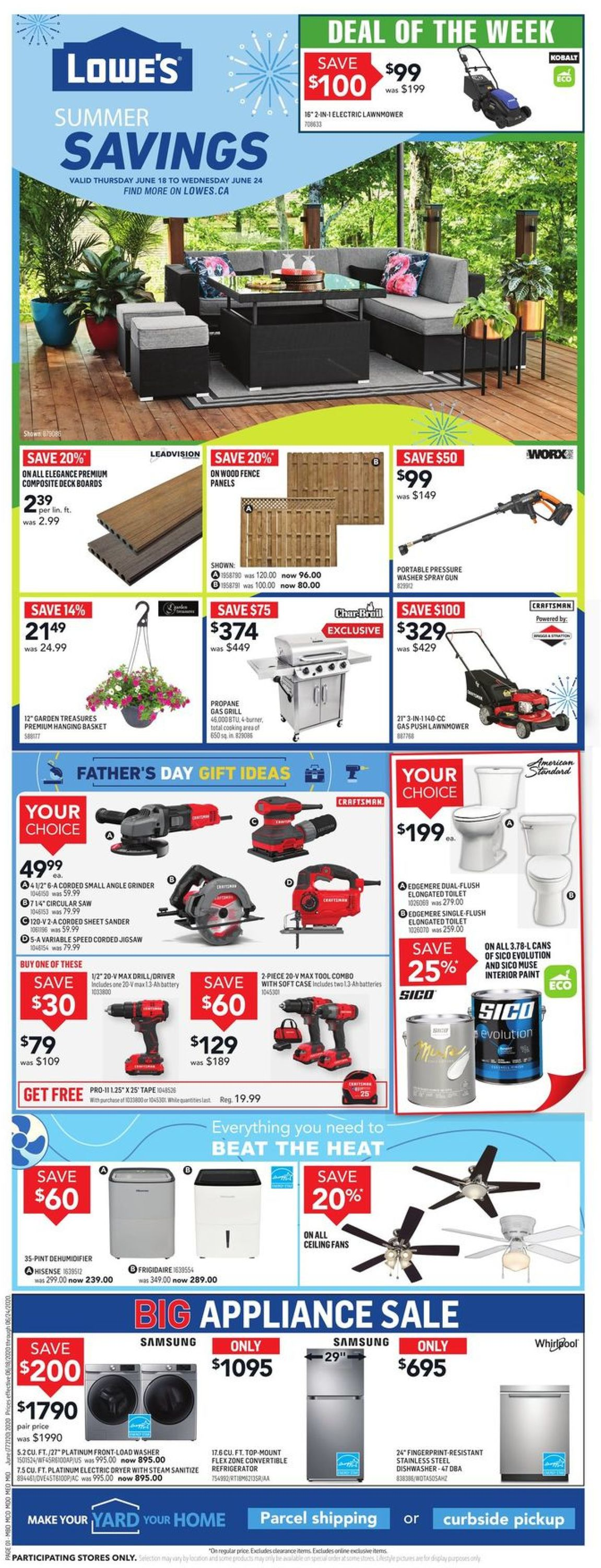 Lowes Flyer - 06/18-06/24/2020