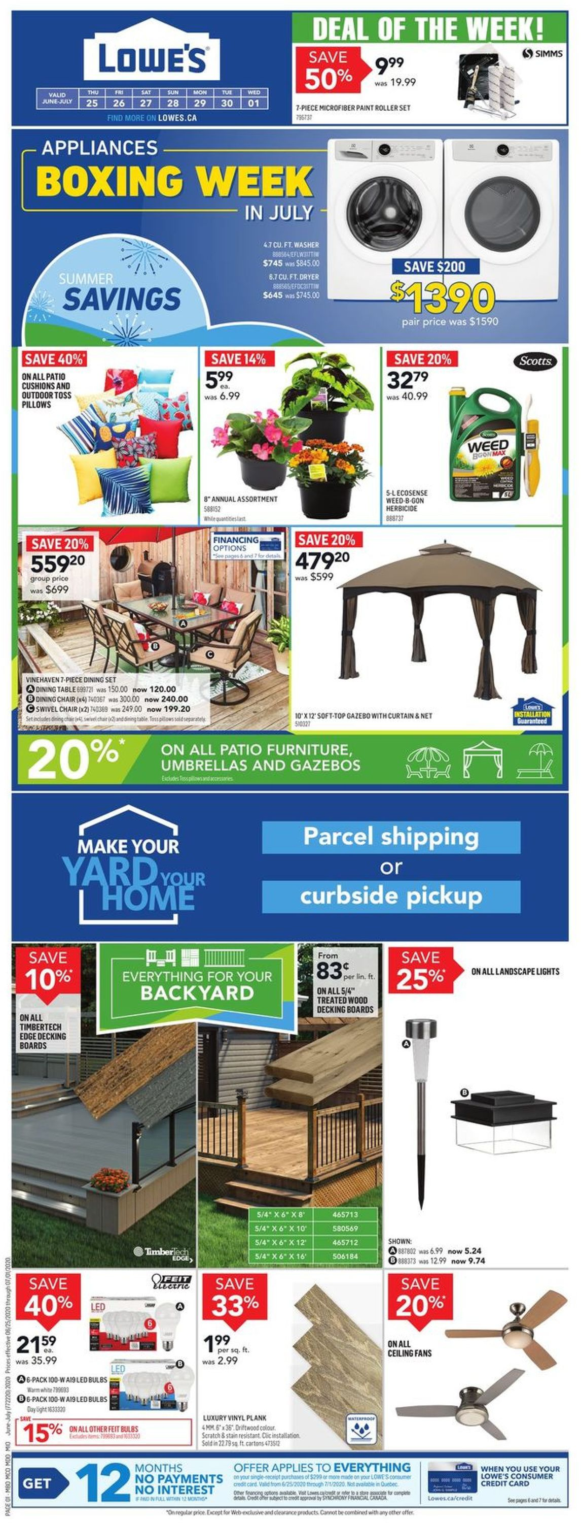 Lowes Flyer - 06/25-07/01/2020