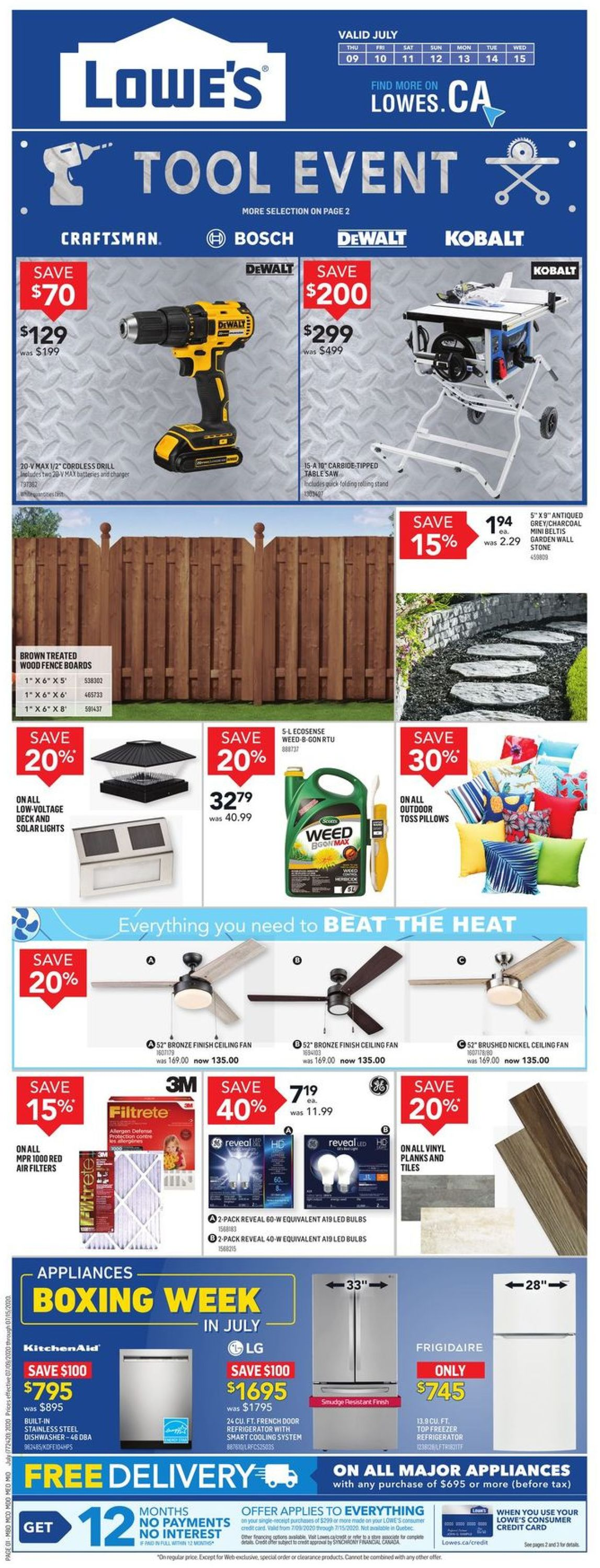Lowes Flyer - 07/09-07/15/2020