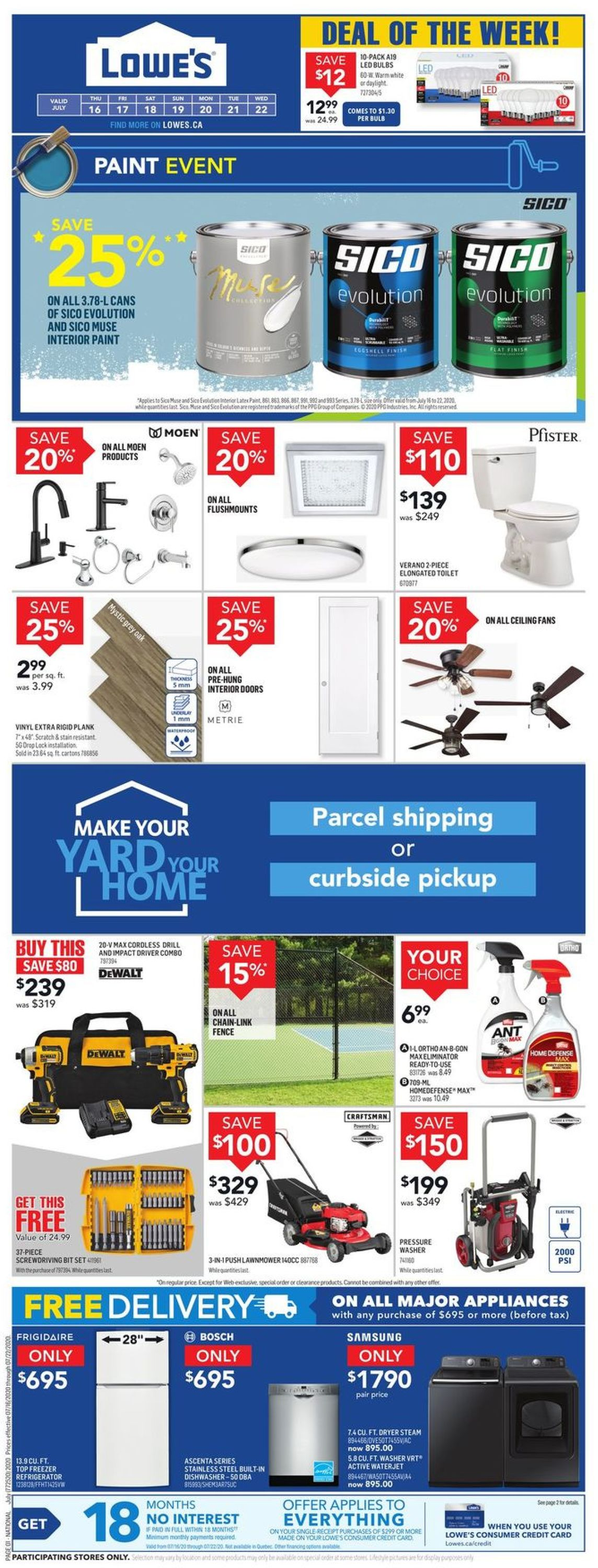 Lowes Flyer - 07/16-07/22/2020