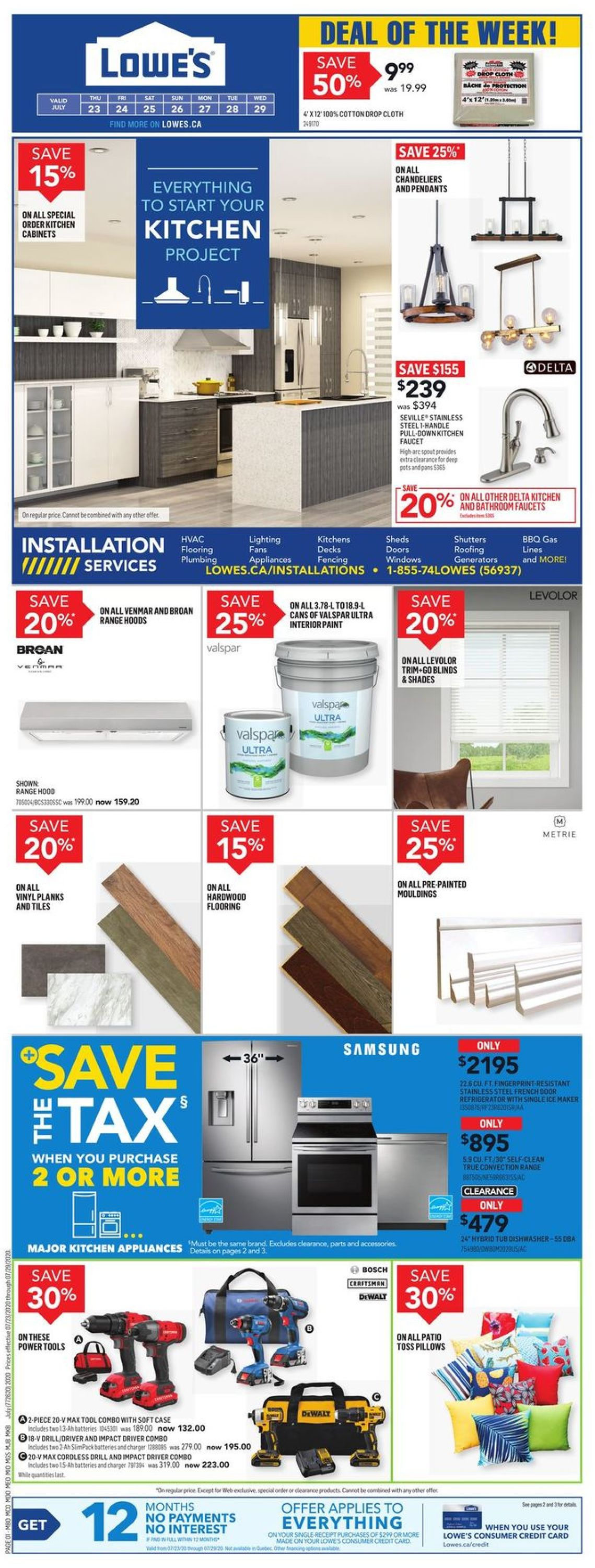 Lowes Flyer - 07/23-07/29/2020