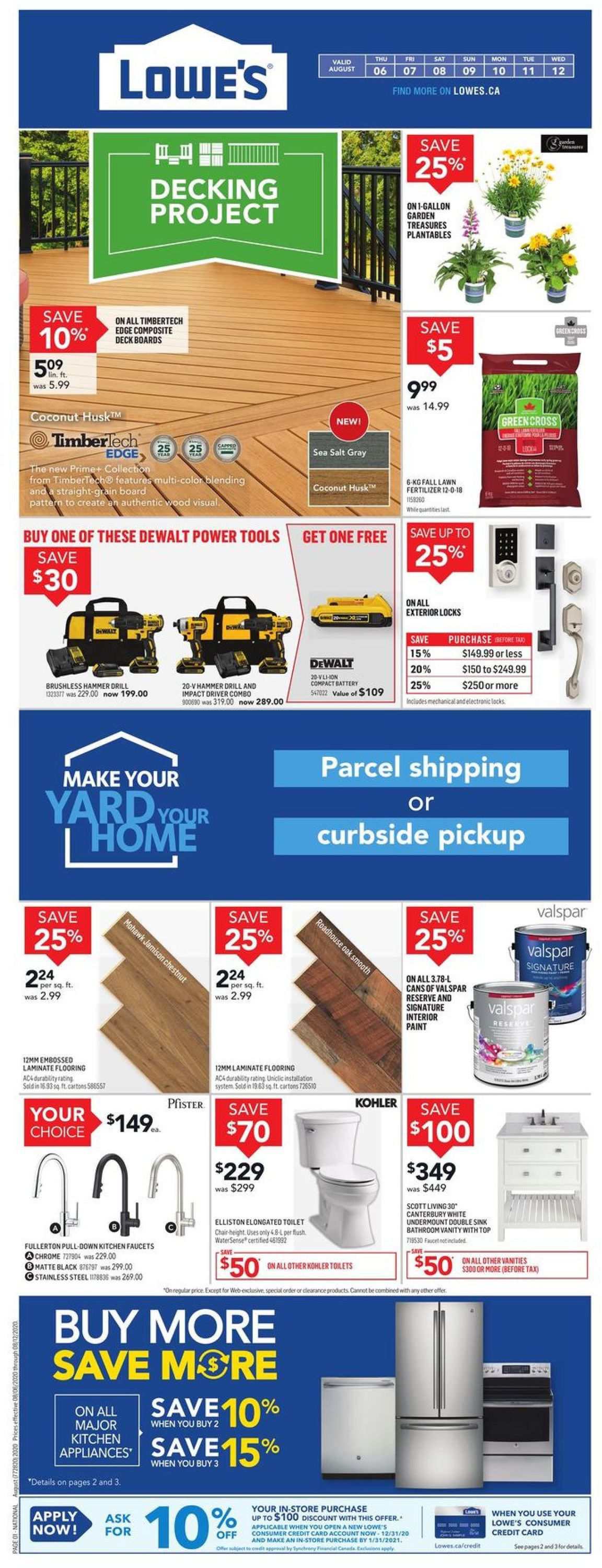 Lowes Flyer - 08/06-08/12/2020