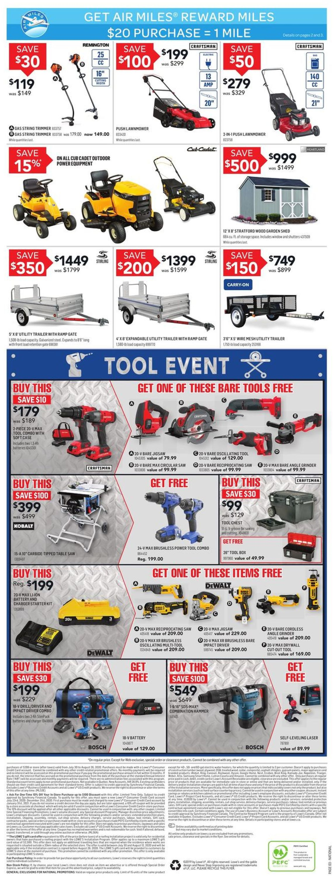Lowes Flyer - 08/06-08/12/2020 (Page 3)