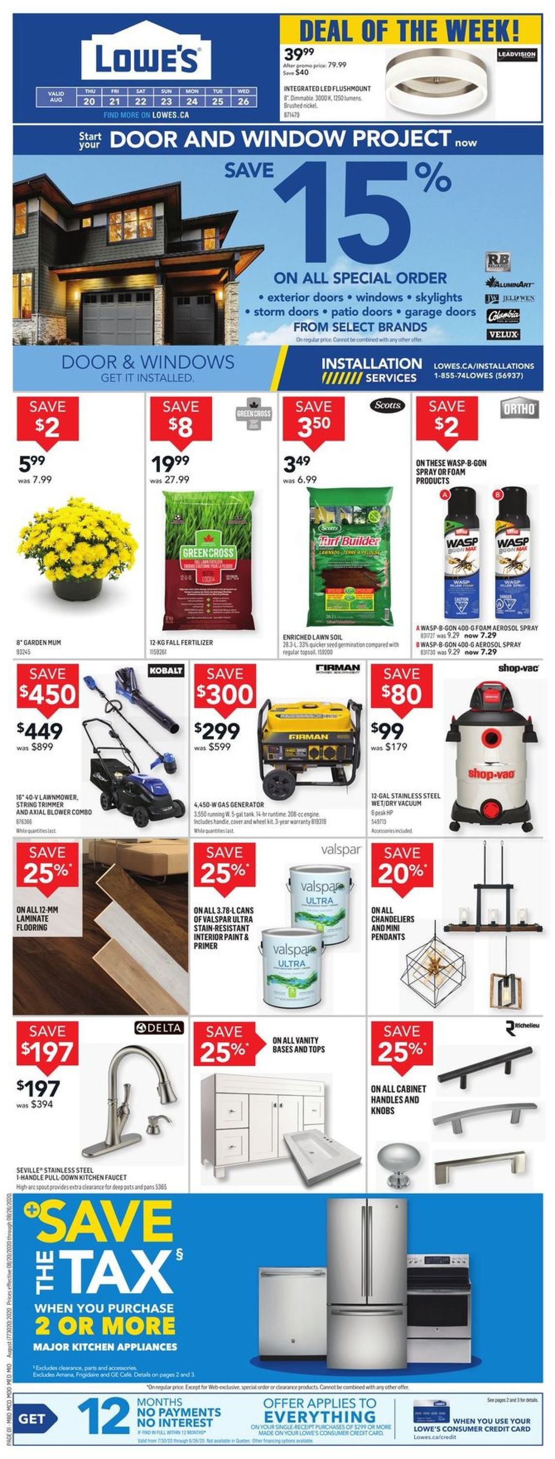 Lowes Flyer - 08/20-08/26/2020