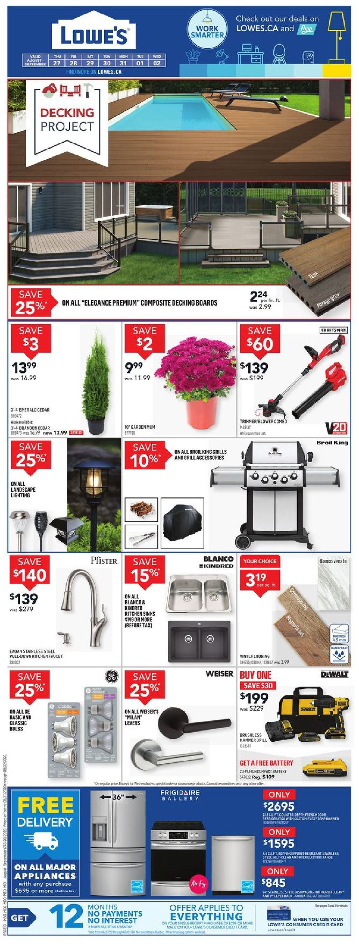Lowes Flyer - 08/27-09/02/2020