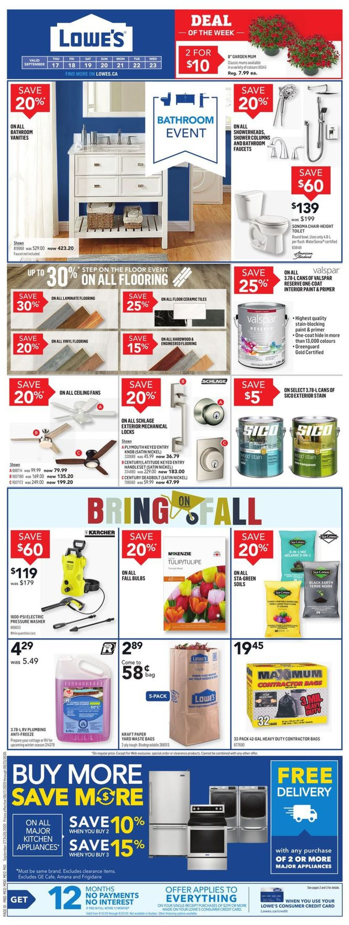 Lowes Flyer - 09/17-09/23/2020
