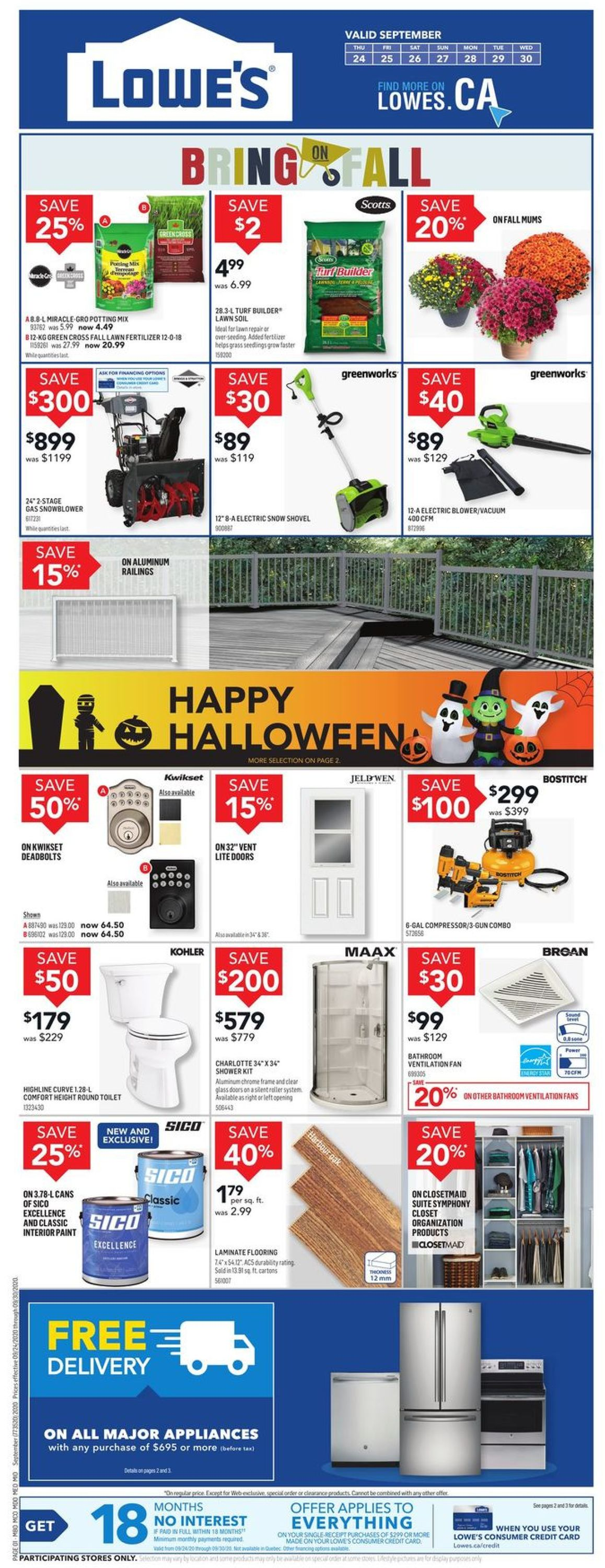 Lowes Flyer - 09/24-09/30/2020
