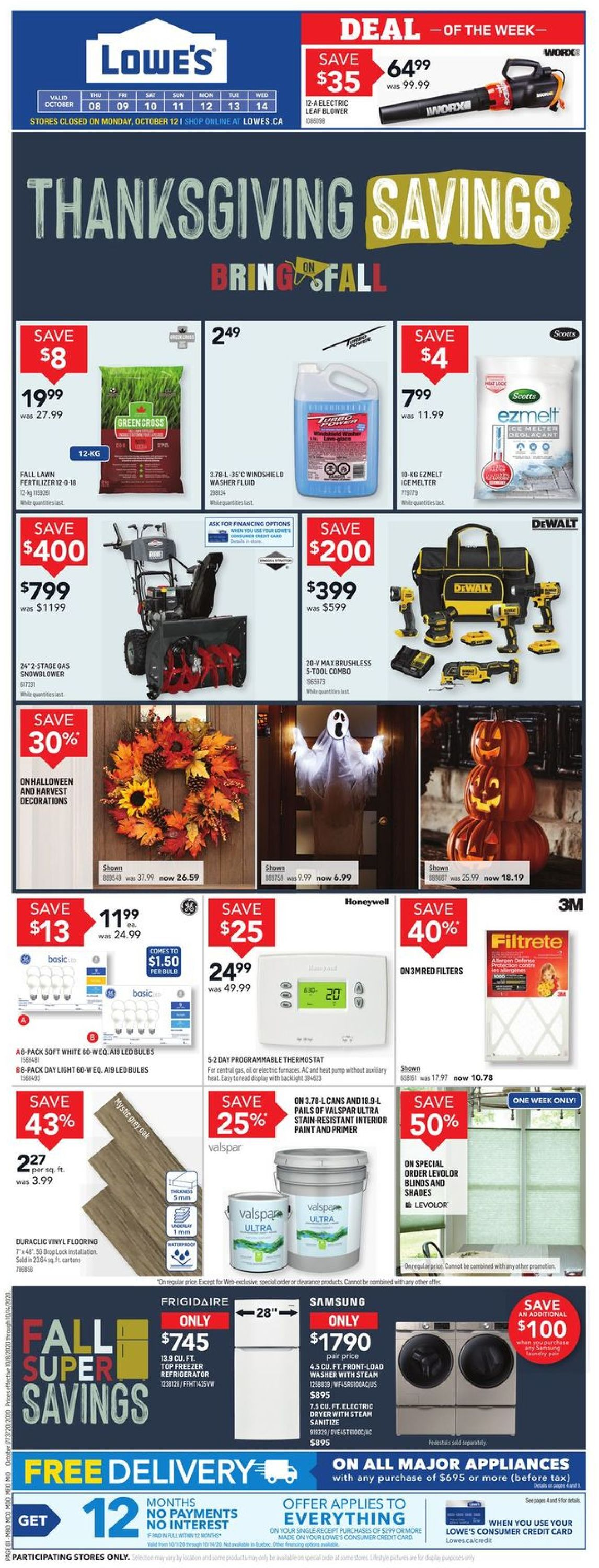 Lowes Flyer - 10/08-10/14/2020